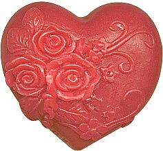 """Духи, Парфюмерия, косметика Глицериновое мыло """"Влюбленное сердце"""", красное - Bulgarska Rosa Soap"""