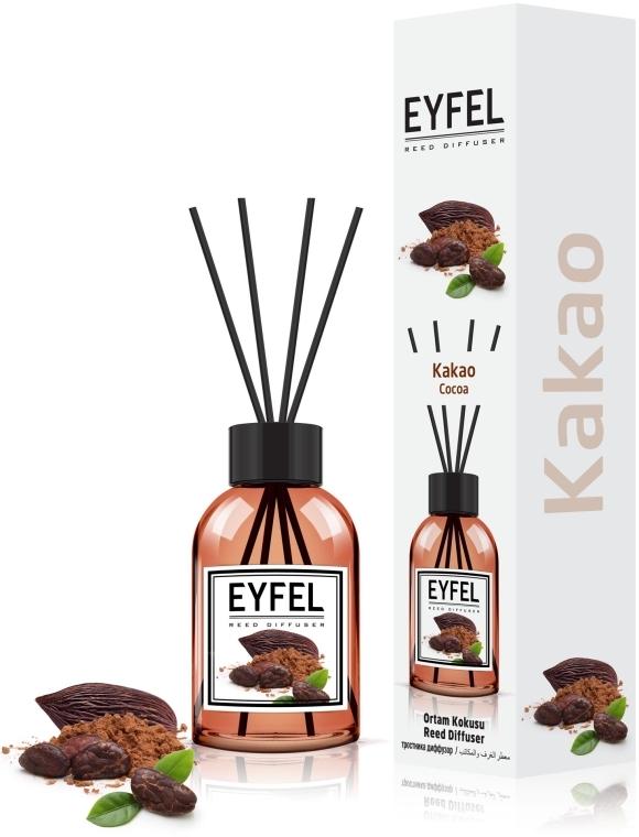 "Аромадиффузор ""Какао"" - Eyfel Perfume Reed Diffuser Cocoa"
