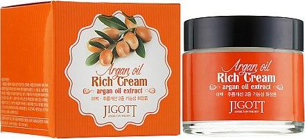 Насыщенный крем для лица с аргановым маслом - Jigott Argan Oil Rich Cream