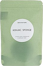 Спонж конняку с зеленым чаем - Love Nature Konjac Sponge — фото N4