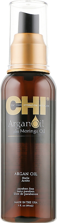 Восстанавливающее масло для волос - CHI Argan Oil Plus Moringa Oil