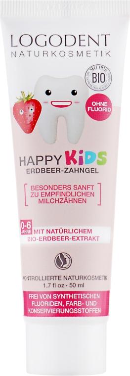 Гель зубной для детей Клубника - Logona Babycare Kids Dental Gel Spearmint