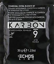 Духи, Парфюмерия, косметика Обесцвечивающий угольный порошок для осветления до 9 тонов - Echosline 9 Charcoal Extra Bleach 9T