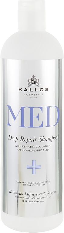 Шампунь для глубокого восстановления - Kallos Cosmetics MED Deep Repair Shampoo