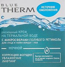 Духи, Парфюмерия, косметика Ночной крем на термальной воде для лица и кожи вокруг глаз - Витэкс Blue Therm