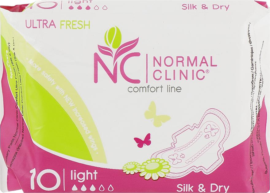 "Прокладки ""Ultra fresh silk dry"", 10шт - Normal Clinic"