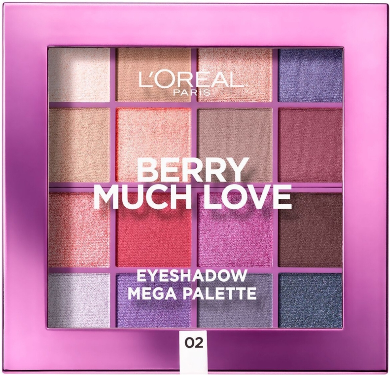 Палетка теней для век - L'Oreal Paris Berry Much Love Eyeshadow Mega Palette