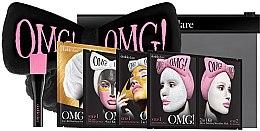 """Духи, Парфюмерия, косметика Набор """"SPA"""" с черным бантом-повязкой - Double Dare OMG! Premium Package (mask/47g+mask/14/7+mask/16/7g+mask/34g+h/band+mask/brush)"""
