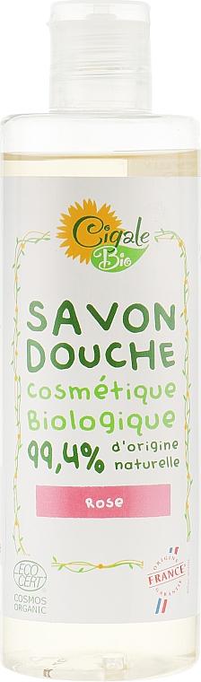 Гель-мыло для душа с эфирным маслом розы - La Cigale Bio Shower Gel Soap