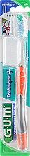 """Духи, Парфюмерия, косметика Зубная щетка, средней жесткости """"Technique+"""", оранжевая - G.U.M Medium Regular Toothbrush"""