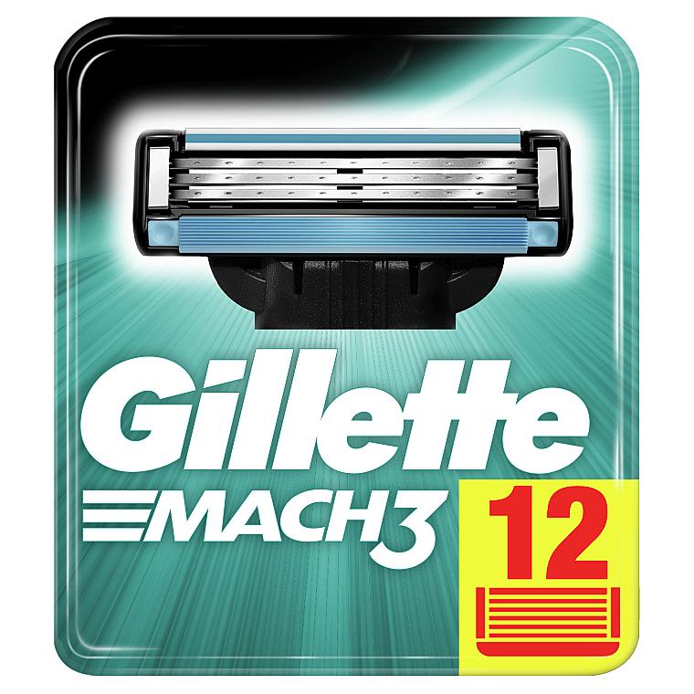 Сменные кассеты для бритья, 12 шт. - Gillette Mach3 XXL