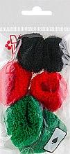Духи, Парфюмерия, косметика Набор резинок для волос, 7580, 6 шт., красный + зеленый + черный - Reed