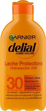 Духи, Парфюмерия, косметика Солнцезащитное молочко - Garnier Ambre Solaire Delial Protective Moisturizing Milk SPF30