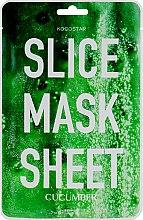 """Духи, Парфюмерия, косметика Маска-слайс для лица """"Огурец"""" - Kocostar Slice Mask Sheet Cucumber"""