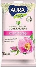 """Духи, Парфюмерия, косметика Освежающие влажные салфетки """"Wild Rose"""" - Aura Beauty"""