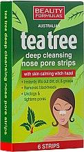 Духи, Парфюмерия, косметика Очищающие полоски для носа - Beauty Formulas Tea Tree Deep Cleansing Nose Pore Strips