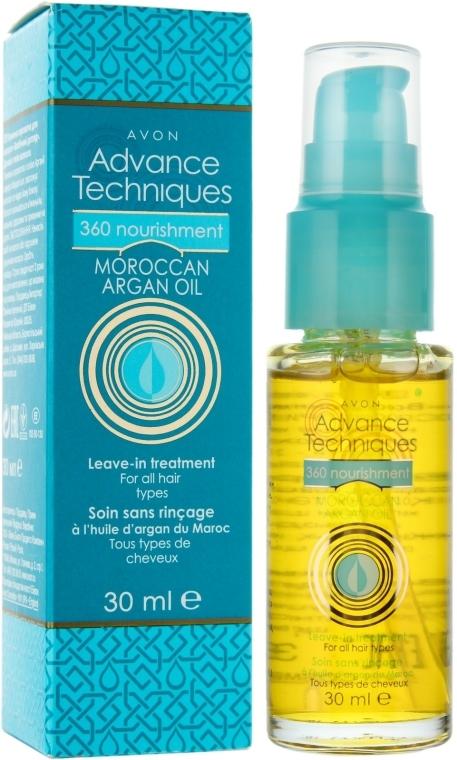 """Питательная сыворотка для волос """"Всесторонний уход"""" - Avon Advance Techniques 360 Nourish Moroccan Argan Oil Leave-In Treatment"""