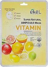 Духи, Парфюмерия, косметика Тканевая маска с комплексом витаминов - Ekel Super Natural Ampoule Mask Vitamin