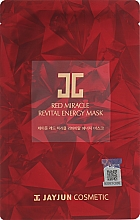 Духи, Парфюмерия, косметика Восстанавливающая энергетическая тканевая маска для лица - JayJun Red Miracle Revital Energy Mask