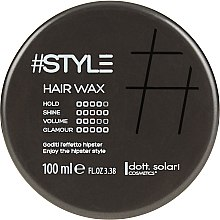 Духи, Парфюмерия, косметика Воск для волос - Dott. Solari Style Hair Wax