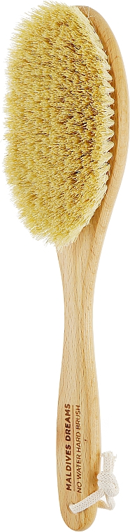 Большая щетка с ручкой для сухого массажа из листьев агавы - Maldives Dreams No Water Hard Brush