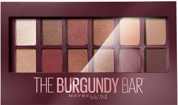 Палетка теней для век - Maybelline New York The Burgundy Bar Palette