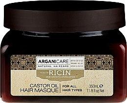 Духи, Парфюмерия, косметика Маска для роста волос - Arganicare Castor Oil Hair Masque