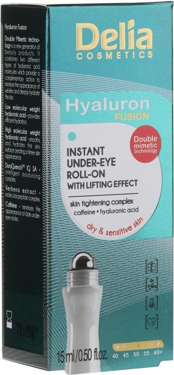 Гель-лифтинг для кожи вокруг глаз - Delia Lifting Roll-On 3D Hyaluron Gel
