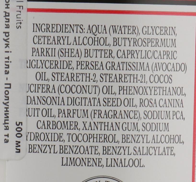 "Лосьон для рук и тела ""Клубника и папайя"" - The Somerset Toiletry Co. Tropical Fruits — фото N3"