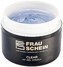 Парфумерія, косметика Гель для нарощування, 15 г - Frau Schein Clear UV Gel System