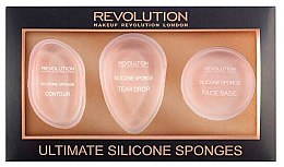 Духи, Парфюмерия, косметика Набор силиконовых спонжей - Makeup Revolution Ultimate Silicone Sponge Set