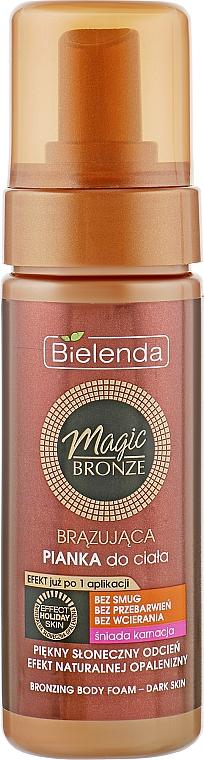 Бронзирующая пенка для тела, темный оттенок кожи - Bielenda Magic Bronze