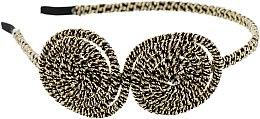 Духи, Парфюмерия, косметика Обруч-шнур для волос, черно-золотой - Элита