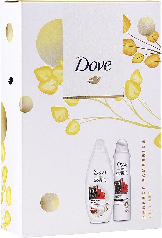 Набор - Dove Relaxing Care Gift Set (sh/gel/250ml+deo/spray150ml)