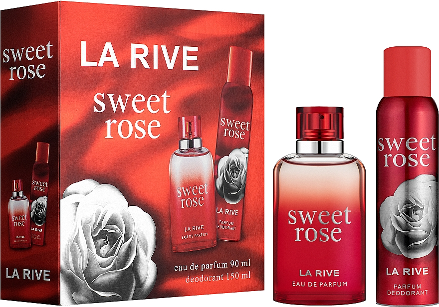 La Rive Sweet Rose - Набор (edp/90ml + deo/150ml)