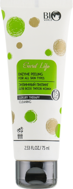 Энзимный пилинг для всех типов кожи - Bio World Secret Life Luxury Therapy Enzyme Peeling