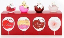 Духи, Парфюмерия, косметика Nina Ricci Nina Miniature Coffret Set - Набор (edt 4ml + edt 4ml + edp 4ml + edt 4ml)