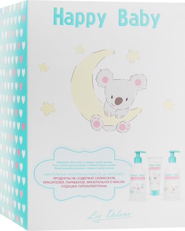 "Набор ""Happy Baby"" с первых дней жизни 0+ - Liv Delano Happy Baby (sh/300g+gel/foam/300g+cr/75g)"