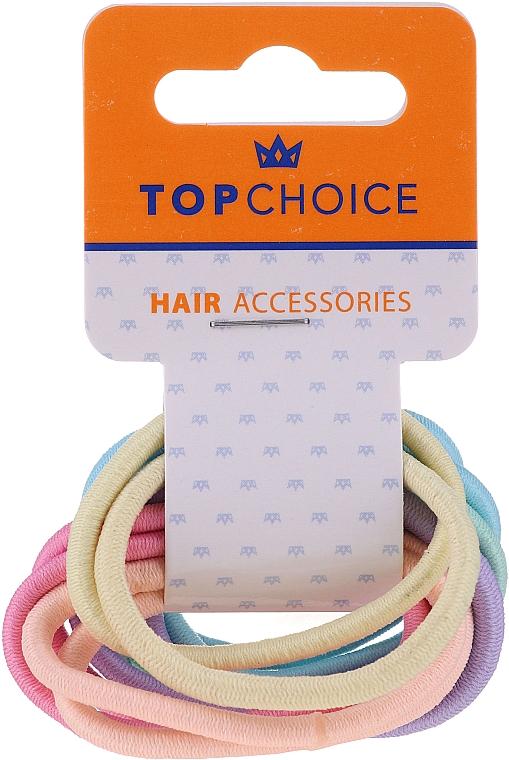 """Резинки для волос """"Pastel"""" 22500, 12 шт, разноцветные - Top Choice"""