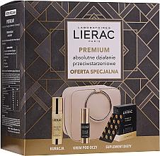 Духи, Парфюмерия, косметика Набор - Lierac Premium (capsules/30pcs + ser/30ml + eye/cr/15ml + pouch)