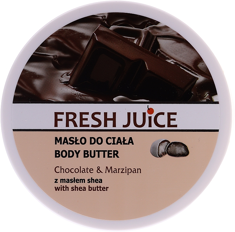 "Масло для тела ""Шоколад и марципан"" - Fresh Juice Body Butter Chocolate & Marzipan With Shea Butter"