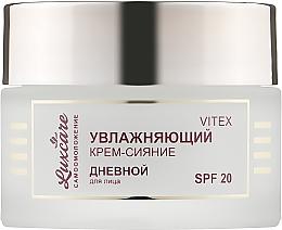 Духи, Парфюмерия, косметика Увлажняющий крем-сияние дневной для лица SPF 20 - Витэкс LuxCare