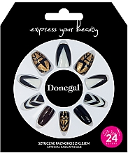 Духи, Парфюмерия, косметика Набор искусственных ногтей с клеем, 3064 - Donegal Express Your Beauty