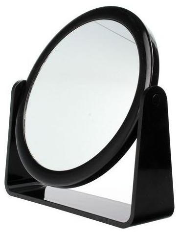 Зеркало косметическое двухстороннее, 85055, черное - Top Choice