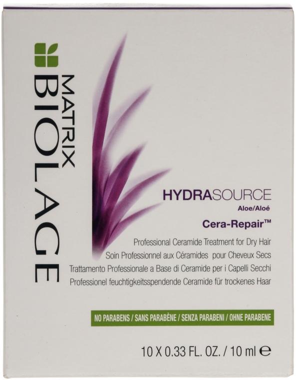 Концентрат для зволоження сухого волосся - Matrix Biolage Hydrasource Cera-Repair Treatment — фото N1