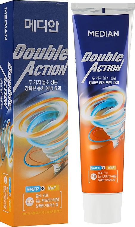 Зубная паста c экстрактом апельсина - Median Double Action Citrus Toothpaste