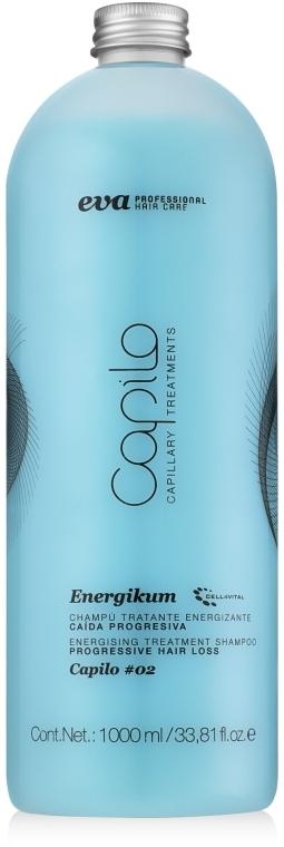 Лечебный шампунь от прогрессирующего выпаденния - Eva Professional Capilo Energikum Shampoo №02