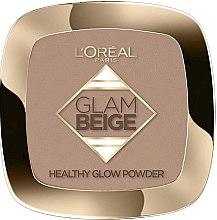 Духи, Парфюмерия, косметика Пудра для лица - L'Oreal Paris Glam Beige Healthy Glow Powder