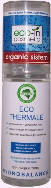 Фрештоник на термальной воде - Eco-in Cosmetic Organic System