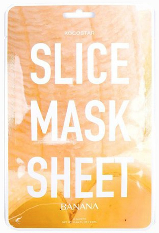 "Маска-слайс для лица ""Банан"" - Kocostar Slice Mask Sheet Banana"